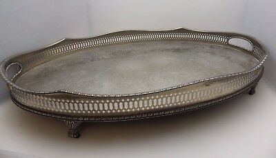 Vintage Silver Plate Large Drinks Tray
