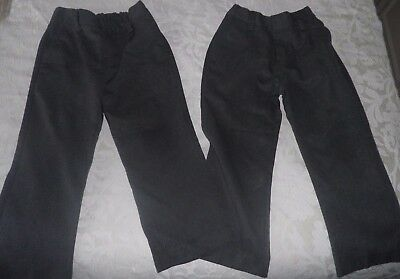 2 PAIRS of NEXT SCHOOL TROUSERS age 5 years  - GREY