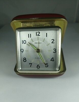 Vintage Seiko Japan Retro Wind Up Alarm Clock