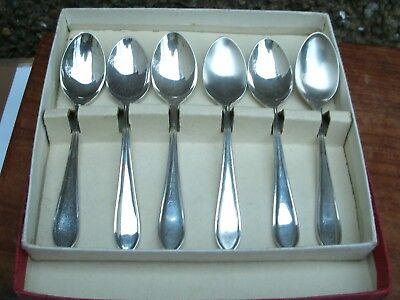 Viners Sheffield Sterling Silver Six 1957 Coffee Spoons