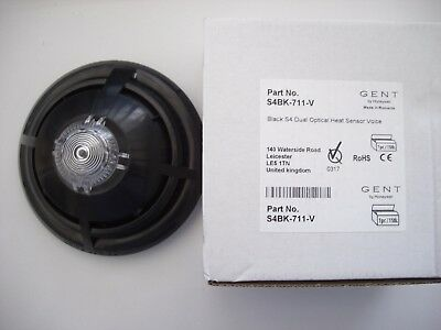 £36 Gent S4BK-711-V Black S4 Dual Optical Heat Detector with Voice