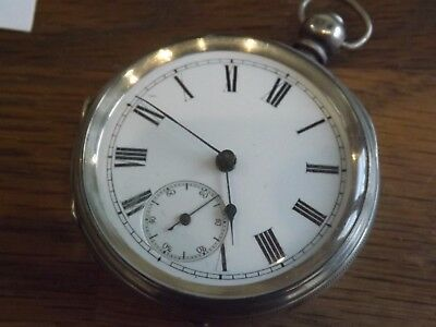 Antique Gents Solid Sterling Silver  Pocket Watch