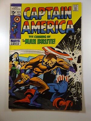 """Captain America #121 """"The Coming of the Man Brute!"""" VG- Condition!!"""