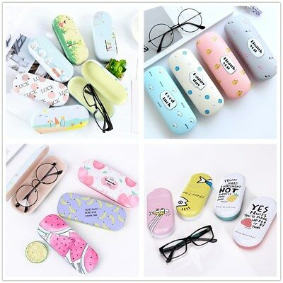 Protable Print Sunglasses Hard Eye Glasses Case Eyewear Protector Box Pouch Bag