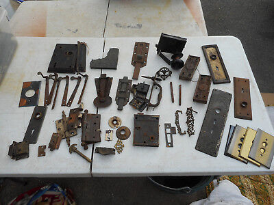 L2673- Assorted Antique Hardware- Door, Etc. - Estate Find