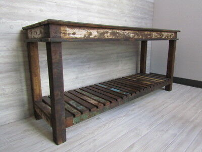 Rustic Hand Made TV Stand Made of Reclaimed Wood Desk and Table