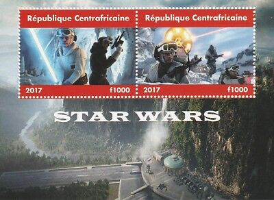 Central African Rep 6696 - 2017 STAR WARS #2 perf sheet unmounted mint