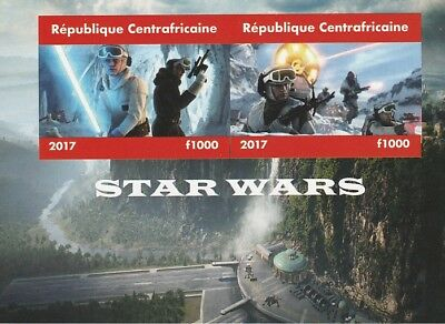 Central African Rep 6697 - 2017 STAR WARS #2 imperf sheet unmounted mint