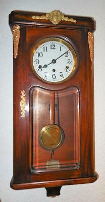 westminster chimes mahogany and brass cased wall clock