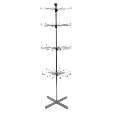 """Store Display Fixtures NEW 63"""" TALL FLOOR MODEL SPINNER RACK WITH PEGS 4 LEVELS"""
