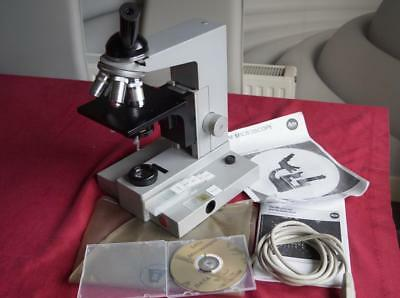 Leitz SM-LUX Monocular Microscope Complete Leitz Lenses AS0.90 Condenser Working