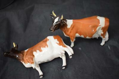 "Vintage Beswick AYRSHIRE COWS CH ICKHAM BESSIE MODEL No 1350 Stands 4 3/4"" T"
