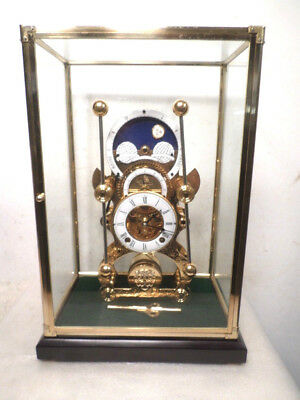Moon Dial Grasshopper Clock That Keeps Excellent Time-- 2 Key Winder Movement