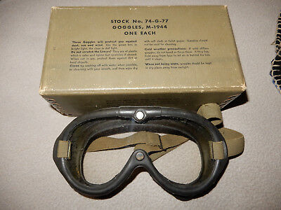 Original 1944 Dated Us Marked M1944 Polaroid Goggles