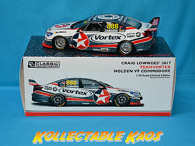 1:18 Classics - 2017 TeamVortex - Holden VF Commodore - Craig Lowndes