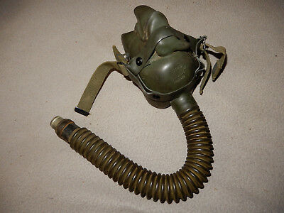 Original 1944 Usaaf A-14 Oxygen Mask, Aviator, Size Medium