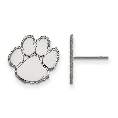 Clemson Tigers Paw Logo Small Post Earrings