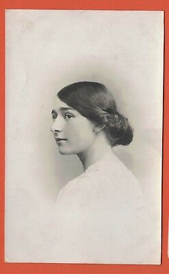 Old Real Photo Postcard, Young Lady, Kelso Photo