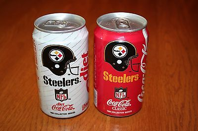 Coca-Cola Diet Coke 1992 NFL Collector Series Pittsburgh Steelers Lot of 2 Cans
