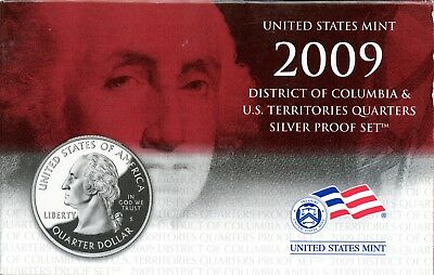 Gorgeous 2009 D.C. and U.S. Territories Quarters Silver Proof Set BF 338