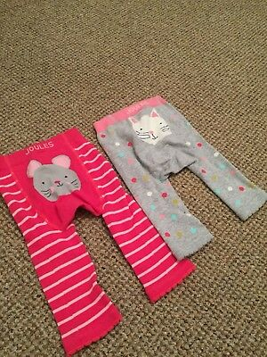 Joules Baby Girl Leggings 6-12 Months X2