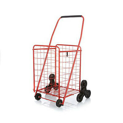 Genuine Red Stair Climber 3 Wheeled Shopping Cart For Convenience and Easy Use