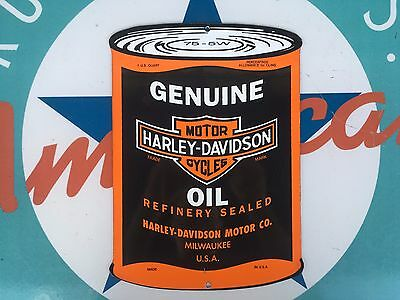 top quality HARLEY DAVIDSON OIL porcelain coated 18 GAUGE steel SIGN
