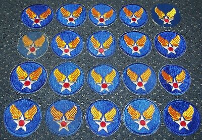 LOT OF 20 ORIGINAL CUT-EDGE WW2 - 1950's U.S. AIR FORCE HQ / COMMAND PATCHES