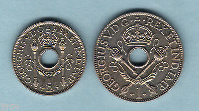 New Guinea. 1929 Halfpenny & Penny - Proof Pair..  FDC