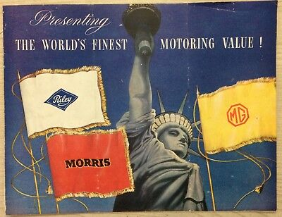 1950's Riley Morris & MG USA Sales Brochure Nuffield Products