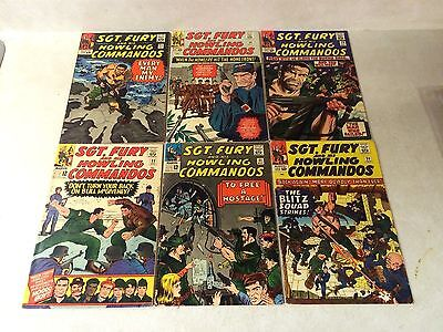 Sgt Fury #20,21,22,23,24,25,26,27,28,29 Howling Commandos, 1965, Stan Lee, War