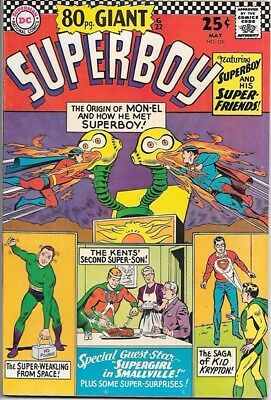 Superboy Comic Book #129 DC Comics 1966 VERY FINE 80 pg. Giant #22