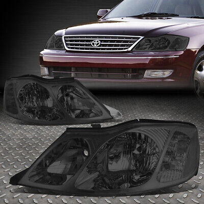 For 2000-2004 Toyota Avalon Pair Smoked Housing Clear Corner Headlight/lamp Set