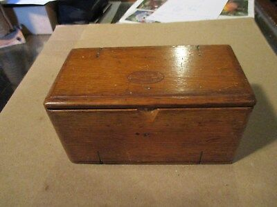 SINGER Sewing Machine Attachments in Wooden Puzzle Box Patd 1889