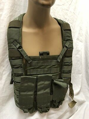 PROTOTYPE OD Rhodesian Recon Vest Chest Rig RRV integrated AK Mag Pouch Test