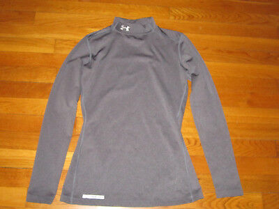 Under Armour Cold Gear Long Sleeve Gray Fitted Mock Jersey Womens Small Exc.