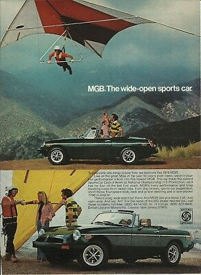 1976 British Leyland MGB Sports Car Vintage Print Ad