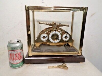 Congreve Rolling Ball Clock Having Table/Ball on Top Of Clock & Has Dome