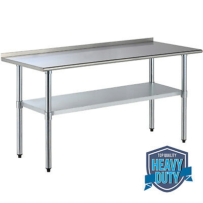 2FT×4FT Stainless Steel Kitchen Restaurant Work Prep Table With Backsplash