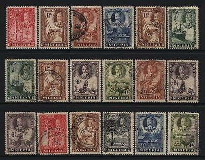 Nigeria 1936 Collection 18 KGV Values Mostly Used