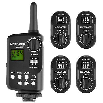 Neewer FT-16 16Ch Wireless Flash Trigger Set (1 Transmitter and 4 Receivers)