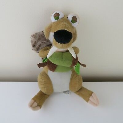 Scrat Squirrel Plush Soft Toy Ice Age 4 Continental Drift With Nut