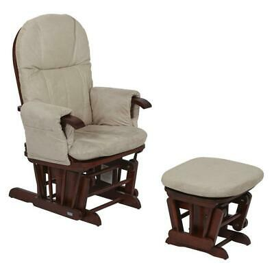 Tutti Bambini GC35 Glider Chair & Stool (Walnut) Reclining Nursing Chair