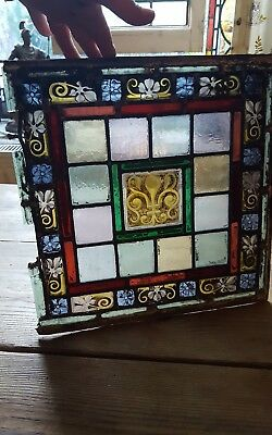 Old piece of hand painted/stained glass spares repair