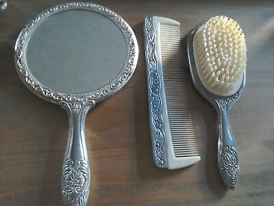 Brush Comb and Mirror Set.