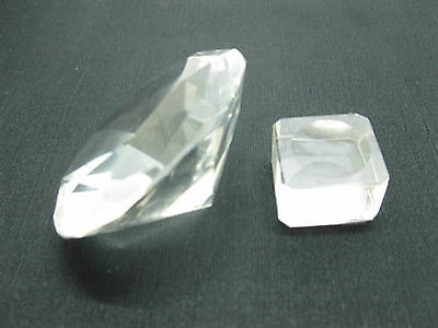 5X New Clear Transparent Taper Crystal Ball with Base 60mm