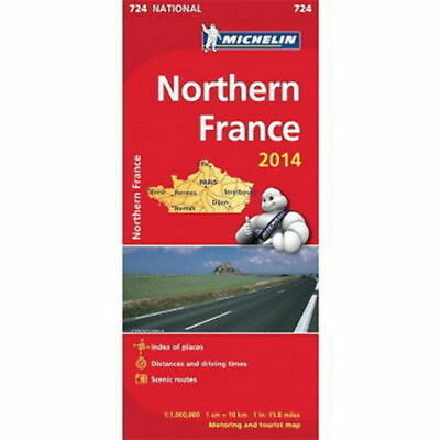 Northern France Michelin National Map 724 Motoring and Tourist