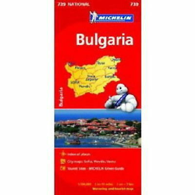 Bulgaria Michelin National Map 739 Motoring and Tourist