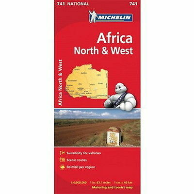 Africa North & West Michelin National Map 741 Motoring and Tourist