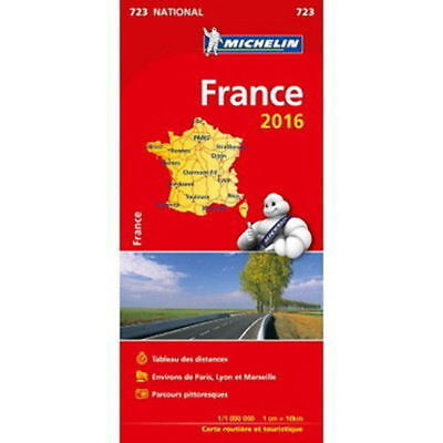 France Michelin National Map 721 Motoring and Tourist